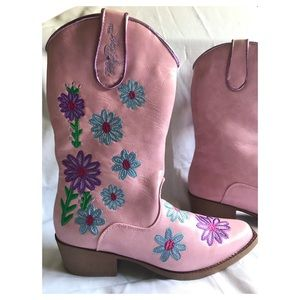 Blazin Roxx Toddler Girls/' Daisy Floral Embroidered Cowgirl Boot Snip Toe Pink